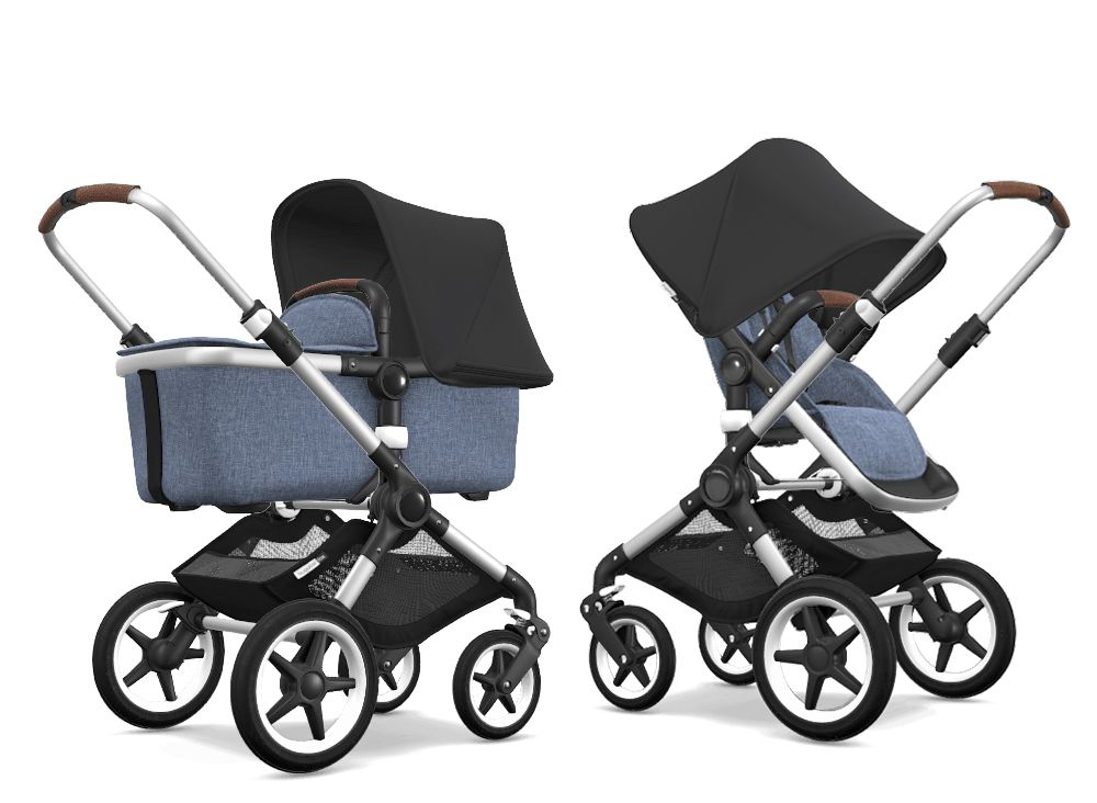 Фото: Коляска 2 в 1 Bugaboo Fox Alu/Grey Melange/Black