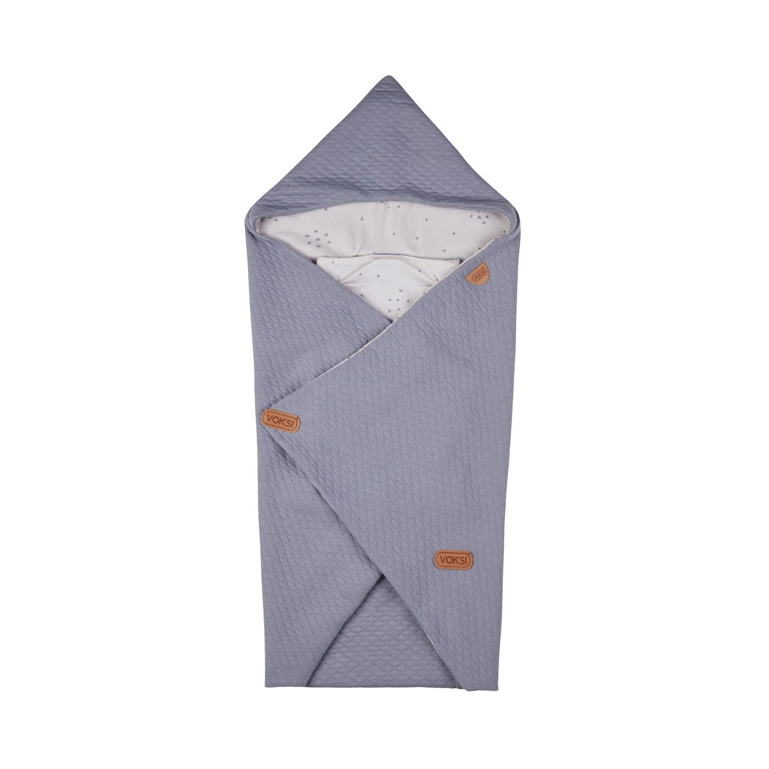 Одеяло-конверт Voksi (Вокси) Baby Wrap Star Light Grey 10010259